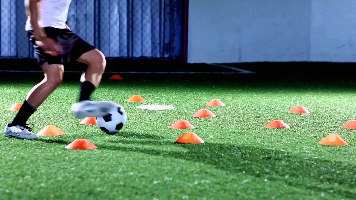 training with cones